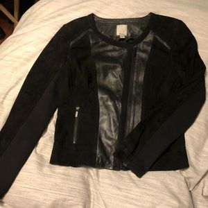 Halogen Suede & Leather Jacket
